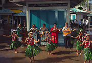 Hula, Aloha Tower, Honolulu, Hawaii (editorial use only, no model release)<br />