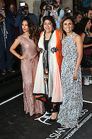 Preeya Kalidas, Gurinder Chadha, Anita Rani, The Asian Awards, Grosvenor House Hotel, London UK, 17 April 2015, Photo by Richard Goldschmidt