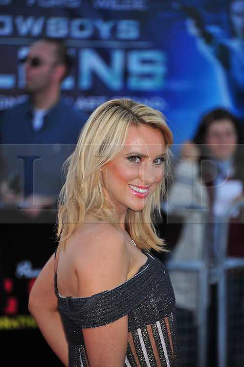 © Licensed to London News Pictures. 11/08/2011. London, England.Rebecca Ferdinando  attends the U.K premiere of Cowboys and Aliens Starring Harrison Ford and Daniel Craig at the O2 Cineworld London Photo credit : ALAN ROXBOROUGH/LNP