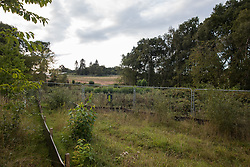 Kenilworth, UK. 24th August, 2020. Land from which many trees have been cleared by HS2 is viewed from Crackley Woods. Anti-HS2 activists continue to protest against and attempt to prevent or delay works in connection with the controversial HS2 high-speed rail link from a series of camps along the Phase One route from Euston to north of Birmingham.