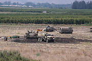 An Israeli Army (IDF) Artillery unit Photographed on the Israel-Lebanon border