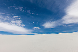 Sand dunes at White Sands National Monument, New Mexico, USA.