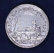 Obverse of medal commemorating  the brilliant comet of November 1618.  This comet prompted many pamphlets, including Galileo Galilei's (1564-1642) polemical masterpiece 'Il Saggiatore' ('The Assayer'). (Rome, 1623).