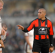 Wycombe. GREAT BRITAIN, Premiership Referee, David ROSE, during the, Guinness Premiership game between, London Wasps and Leicester Tigers on 25/11/2006, played at  Adams<br />  Park,<br />  ENGLAND. Photo, Peter Spurrier/Intersport-images]