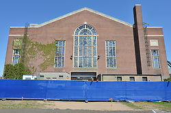 Renovations and Restoration of Coxe Cage Skylights and Roof. Yale University Athletics Facility. Pre-Construction Project Photography, 2 May 2013.