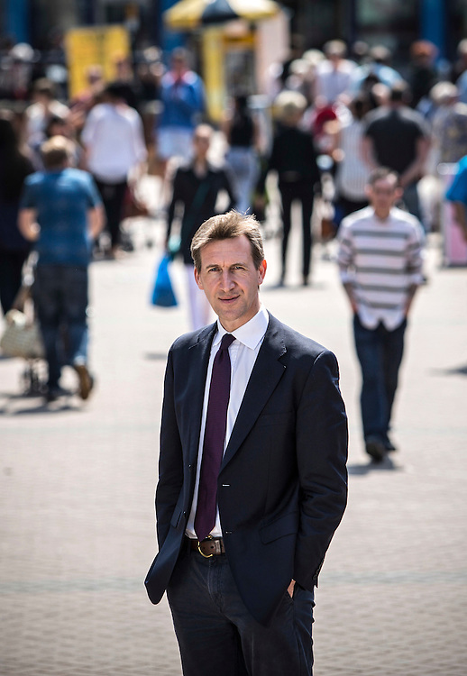 12/06/15 Barnsley, South Yorkshire - Dan Jarvis MP in Barnsley town centre