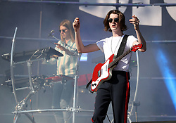 Myles Kellock (left) and Tom Ogden from Blossoms perform during the TRNSMT festival on Glasgow Green in Glasgow.
