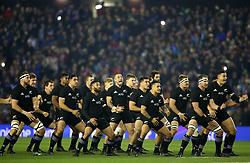 New Zealand' perform the Haka before kick-off of the Autumn International at BT Murrayfield, Edinburgh.