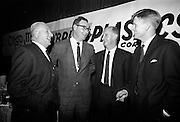 16/11/1966<br /> 11/16/1966<br /> 16 November 1966<br /> O'Brien Plastics Ltd., Bishopstown, Cork reception at the Intercontinental Hotel, Dublin to announce that Phillips Petroleum Company, Oklahoma U.S.A had acquired a 50% interest in O'Brien Plastics. Picture shows (l-r): Brian Nally, Industry Consultant; Donal McSweeney, O'Brien Plastics; Noel Barry, Cork and C.P. McCarty, Co. Cork.