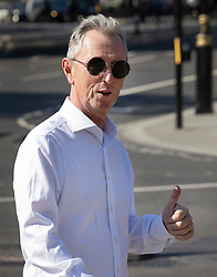 © Licensed to London News Pictures. 14/09/2020. London, UK. Conservative MP Nigel Evans gives a thumbs up as he arrives at Parliament. Photo credit: Peter Macdiarmid/LNP