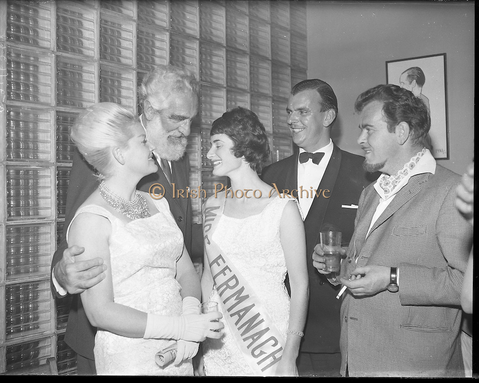 Irene Ruth Kane, winner of the Miss Ireland contest, at the Four Provinces Ballroom (later the Television Club). She came in the Top Ten in the Miss World competition.  .09.10.1960