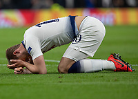 Football - 2018 / 2019 UEFA Champions League - Quarter Final , First Leg: Tottenham Hotspur vs. Manchester City<br /> <br /> Harry Kane (Tottenham FC) holds his head after clashing with Nicolas Otamendi (Manchester City) at White Hart Lane Stadium.<br /> <br /> COLORSPORT/DANIEL BEARHAM