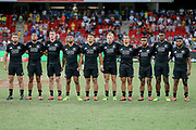 Anthems during Day 3 of the HSBC World Rugby Sevens, Mens Cup Final match between New Zealand and USA, 2019, Spotless Stadium, Saturday 3rd February 2019. Copyright Photo: David Neilson / www.photosport.nz