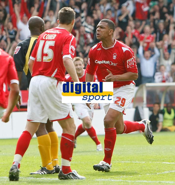 Photo: Steve Bond/Richard Lane Photography. <br />Nottingham Forest v Yeovil Town. Coca-Cola Football League One. 03/05/2008. Julian Bennett (29) turns to celebrate his opener