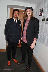 Left to right, members of Temper Trap JONATHAN AHERNE and DOUGY MANDAGI at the Raymond Weil Pre-Brit Awards Dinner held at The Mosaica, The Chocolate Factory, Clarendon Rd, Wood Green, London N22 on 24th January 2013.