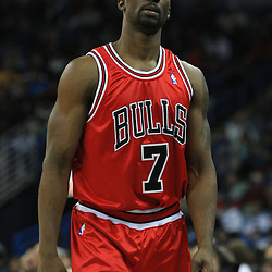 04 February 2009:  Chicago Bulls guard Ben Gordon (7) walks to the bench during a 93-107 loss by the New Orleans Hornets to the Chicago Bulls at the New Orleans Arena in New Orleans, LA.