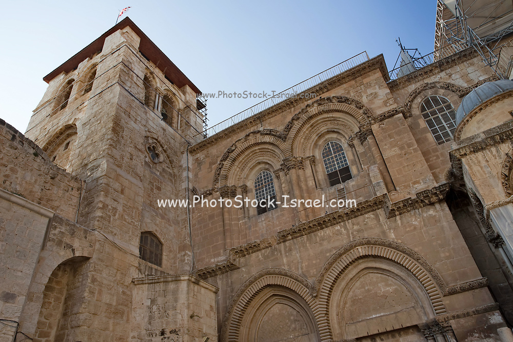 Exterior of the Church of the Holy Sepulchre, Jerusalem, Israel