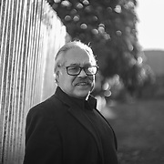 Playwright Luis Valdez outside of Teatro Campesino, which he founded, in San Juan Bautista, Calif. on Dec. 5, 2017.