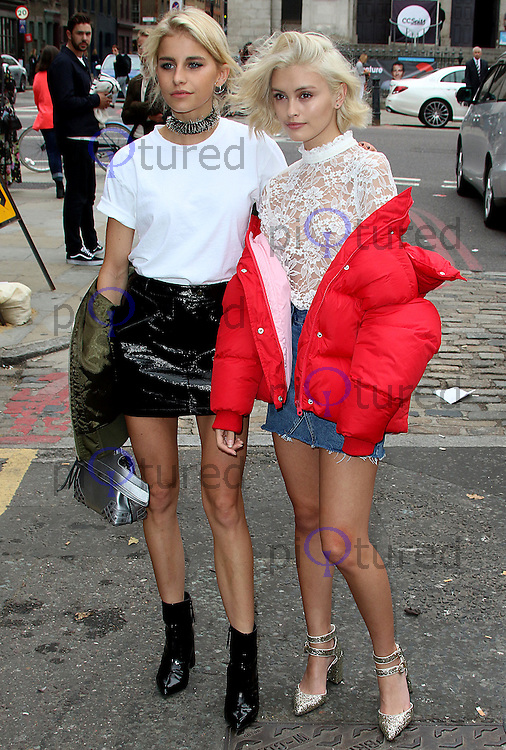 Caroline Daur & Sarah Ellen, London Fashion Week SS17 - Topshop, Old Spitalfields Market, London UK, 18 September 2016, Photo by Brett D. Cove