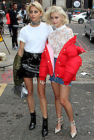 Caroline Daur & Sarah Ellen, London Fashion Week SS17 - Topshop, Old Spitalfields Market, London UK, 18 September 2016, Photo by Brett D. Cove