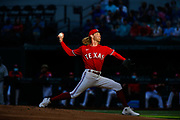 ARLINGTON, TX - MAY 07: Texas Rangers Pitcher Mike Foltynewicz (20) pitches in the first inning during the Texas Rangers game versus the Seattle Mariners on May 7th, 2021, at Globe Life Field in Arlington, TX.(Photo by Aric Becker/Icon Sportswire)