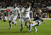 Photo: Paul Thomas/Sportsbeat Images.<br /> Leeds United v Bury FC. Johnstone's Paint Trophy. 13/11/2007.<br /> <br /> Nicky Adams (R) of Bury shoots at goal.