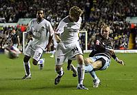 Photo: Paul Thomas/Sportsbeat Images.<br /> Leeds United v Bury FC. Johnstone's Paint Trophy. 13/11/2007.<br /> <br /> Nicky Adams (R) of Bury shoots at goal.