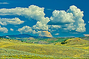 Clouds and Grasslands. Thompson Valley, Kamloops, British Columbia, Canada