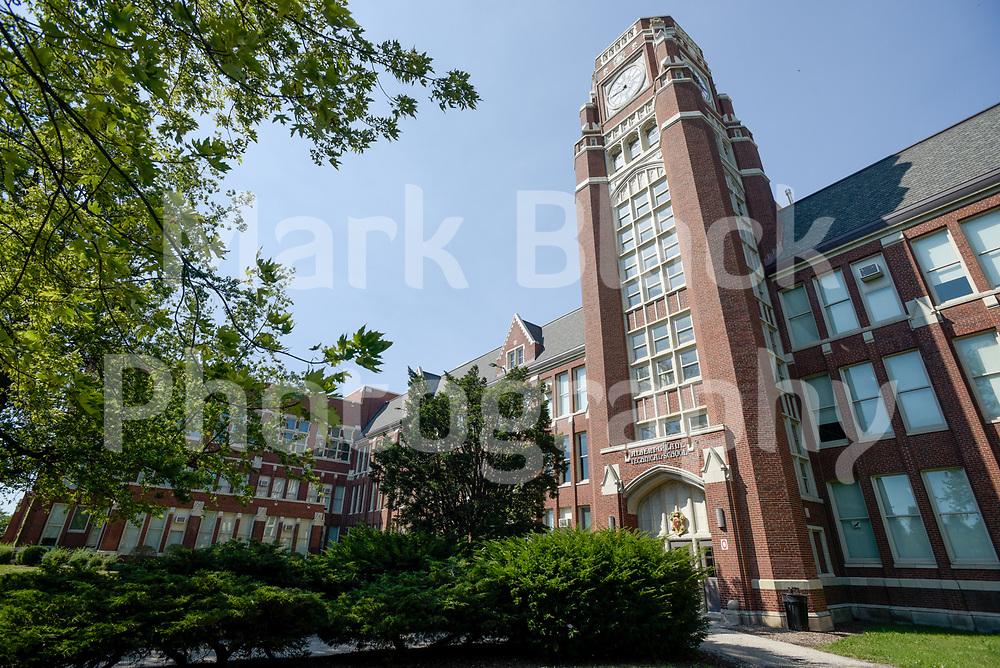 Lane Tech High School in Chicago on Thursday, Sept. 3, 2020. Photo by Mark Black