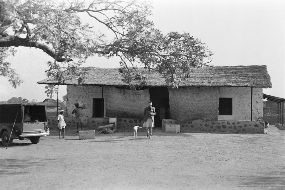 Grass Hut Compound, Writing Tablet, Katsina, Nigeria, Africa, 1937