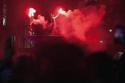 Sunderland fans descend on London the night before Sunderland play Portsmouth in the EFL Checkatrade Trophy final at Wembley.<br /> <br /> Richard Hancox | EEm 30032019