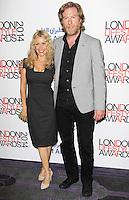 Melinda Messenger & Warren Smith, London Lifestyle Awards 2014, The Troxy, London UK, 08 October 2014, Photo By Brett D. Cove