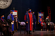 SMU students and faculty participate in the Honors Convocation, Monday, April 12, 2021 in McFarlin Memorial Auditorium on the SMU Campus.