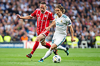 Real Madrid Luka Modric and Bayern Munich Franck Ribery during Semi Finals UEFA Champions League match between Real Madrid and Bayern Munich at Santiago Bernabeu Stadium in Madrid, Spain. May 01, 2018. (ALTERPHOTOS/Borja B.Hojas)
