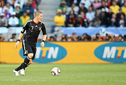 03.07.2010, CAPE TOWN, SOUTH AFRICA, im Bild . Bastian Schweinsteiger of Germany on the attack during the Quarter Final, Match 59 of the 2010 FIFA World Cup, Argentina vs Germany held at the Cape Town Stadium..Foto ©  nph /  Kokenge