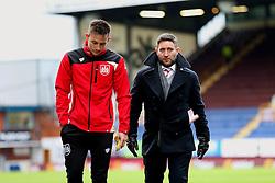 Bristol City head coach Lee Johnson and Josh Brownhill arrive at Turf Moor - Mandatory by-line: Matt McNulty/JMP - 28/01/2017 - FOOTBALL - Turf Moor - Burnley, England - Burnley v Bristol City - Emirates FA Cup fourth round