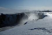 Selfoss waterfall in northern Iceland, in the Vatnajökull National Park