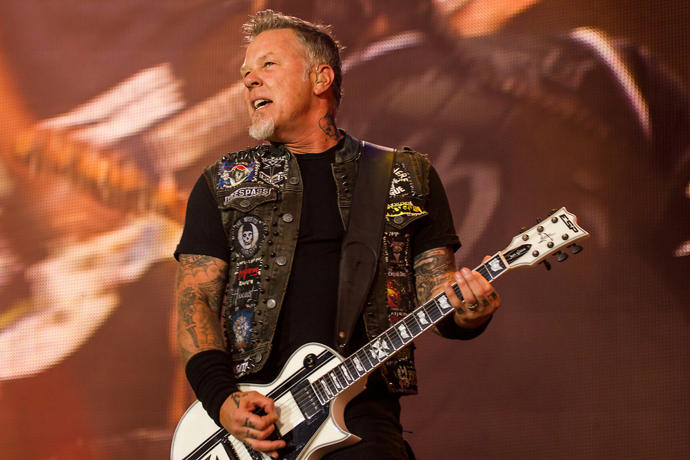 Metallica performs at Lollapalooza in Chicago, IL on August 1, 2015.