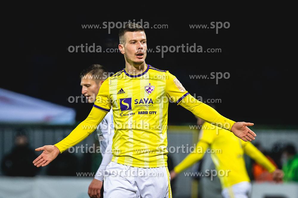 Alexandru Cretu reacts during football match between NŠ Mura and NK Maribor in 22nd Round of Prva liga Telekom Slovenije 2019/20, on February 26, 2020 in Fazanerija, Murska Sobota, Slovenia. Photo by Blaž Weindorfer / Sportida