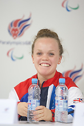 © London News Pictures. 27/08/2012. Ellie Simminds MBE - swimmer. Press call at ParalympicGB House in Stratford. Photo credit should read Manu Palomeque/LNP