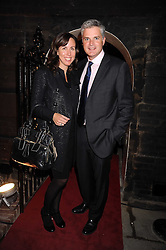 CHRIS COLFER Chief Executive of Alfred Dunhill and his wife MICHELLE at a party to celebrate the opening of the new home of Alfred Dunhill at Bourdon House, 2 Davies Street, London on 16th September 2008.