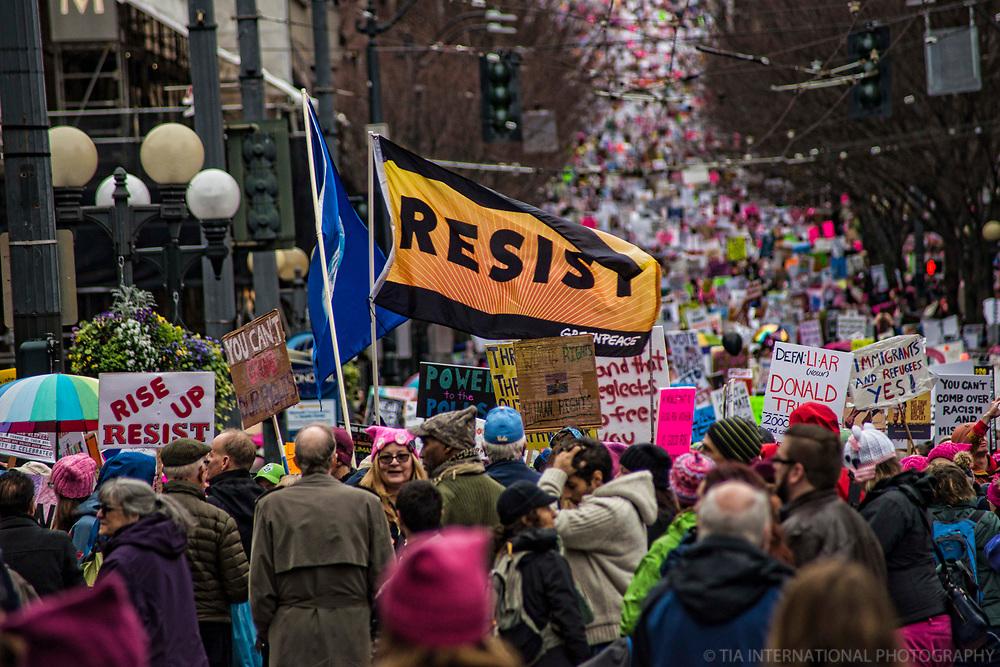 Women's March 2.0, Seattle. January 20, 2018.
