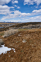 Eastern overlook of the wetlands in Arapaho National Wildlife Refuge. Image six of six taken with a Nikon D3 camera and 14-24 mm f/2.8 lens (ISO 200, 23 mm, f/16, 1/200 sec). Panorama composed using Auto Pano Giga Pro.