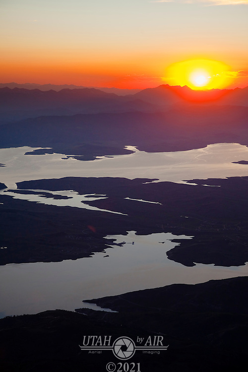 Strawberry Reservoir at Sunset