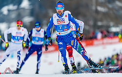 24.02.2019, Seefeld, AUT, FIS Weltmeisterschaften Ski Nordisch, Seefeld 2019, Nordischen Kombination, Teambewerb, Langlauf, im Bild Alessandro Pittin (ITA) // Alessandro Pittin of Italy during the cross country for the team competition Nordic Combined of FIS Nordic Ski World Championships 2019. Seefeld, Austria on 2019/02/24. EXPA Pictures © 2019, PhotoCredit: EXPA/ Stefan Adelsberger