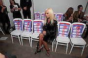 DONATELLA VERSACE, Fashion Fringe At Covent Garden 2009 - grand final & catwalk show. The Flower Cellars, 4-6 Russell Street, London WC2, Nationwide search for new sustainable talent in the fashion industry. Part of London Fashion Week. Versace is Honorary Chairman. 21 September 2009