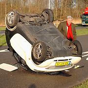 Ongeval Merk Huizen, smart over de kop, Dirk van Veen