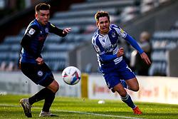 Sam Nicholson of Bristol Rovers takes on Aaron Morley of Rochdale - Mandatory by-line: Robbie Stephenson/JMP - 31/10/2020 - FOOTBALL - Crown Oil Arena - Rochdale, England - Rochdale v Bristol Rovers - Sky Bet League One