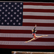 Abigail Milliet, Denton, Texas, in action on the Balance Beam during the Senior Women Competition at The 2013 P&G Gymnastics Championships, USA Gymnastics' National Championships at the XL, Centre, Hartford, Connecticut, USA. 15th August 2013. Photo Tim Clayton