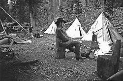 Cowboy, hunting camp